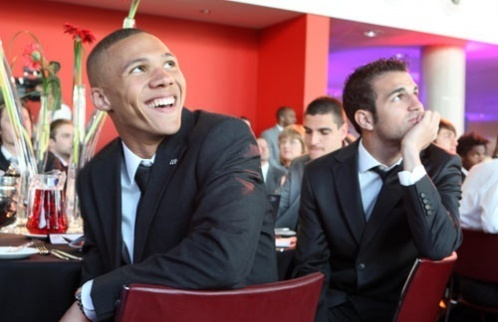 Cesc at the Arsenal Charity Ball
