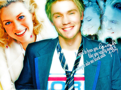 Chad and Hilarie wallpaper containing a business suit called Chad & Hil <3