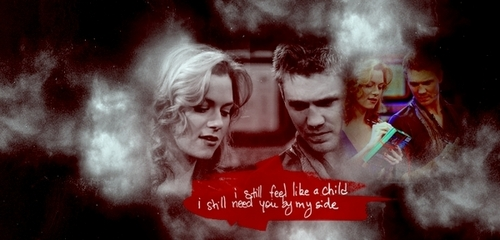 Chad and Hilarie wallpaper possibly with a smoke screen and anime called Chad & Hil <3
