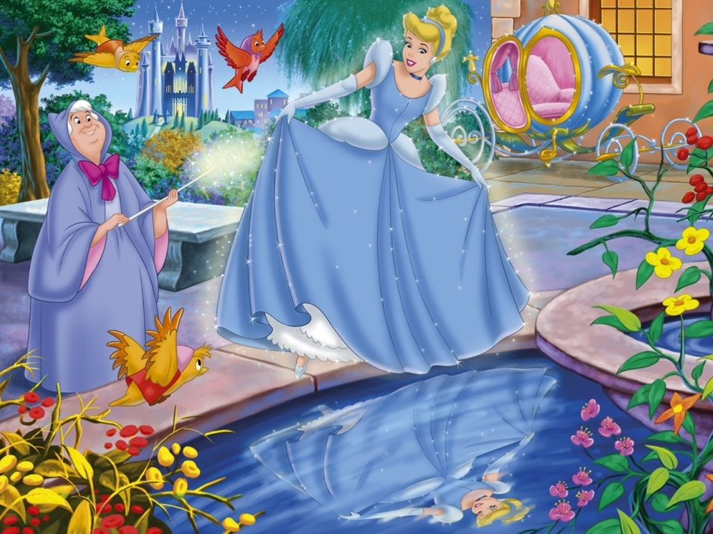 Princess Cinderella Cartoon Wallpaper
