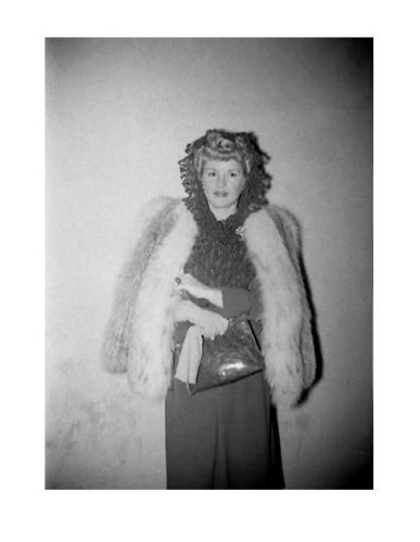 Classic Movies wallpaper containing a fur coat called Claire Trevor At Movie Theater - candid