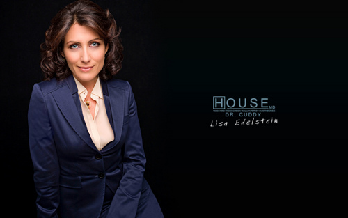 House M.D. wallpaper with a business suit, a suit, and a three piece suit entitled Cuddy Widescreen Wallpaper