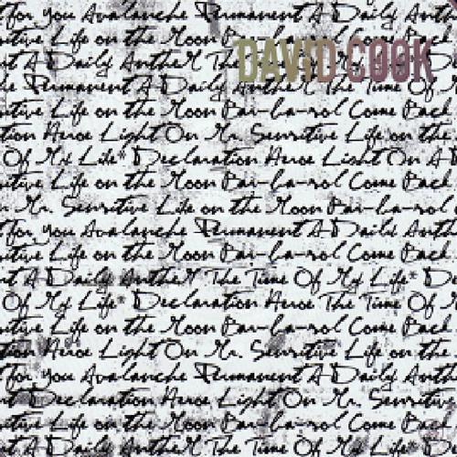 David Cook's cd background