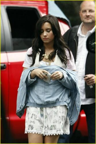 Demi Lovato Shoots 'Here We Go Again' Video