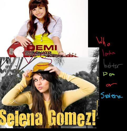 selena gomez dan demi lovato wallpaper possibly with anime called Demi and Selena fan art
