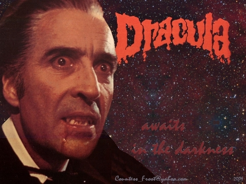 Dracula awaits in the darkness