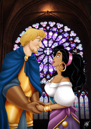 Rose+Croix et Alchymie Esmeralda-and-Phoebus-disney-couples-6477893-300-425