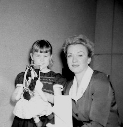 Eve Arden and daughter - candid