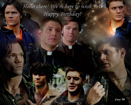 Supernatural wallpaper probably containing a portrait called Happy b-day Toti!
