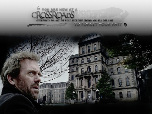 Dr. Gregory House wallpaper with a street, a business district, and a brownstone called House MD