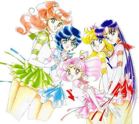 sailor moon chibi chibi princess  Inner Senshi & Chibi