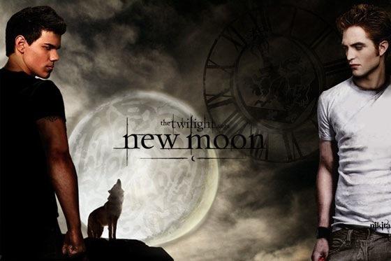 Jacob & Edward-New Moon Poster