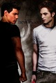 Jacob & Edward-New Moon Poster - twilight-series photo
