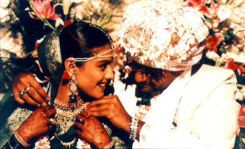 celeb weddings wallpaper possibly containing a flute titled Kajol and Ajay's Wedding