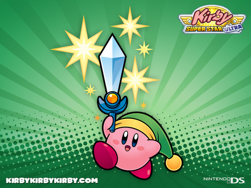 Kirby Wallpaper Possibly Containing Anime Entitled Super Star Ultra