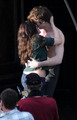 "Kristen with Robert on the set of ""New Moon"" - 27 May - twilight-series photo"