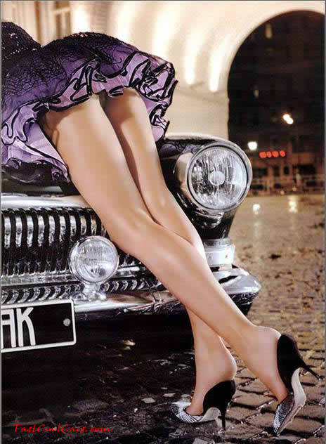 Pantyhose legs in cars really. And
