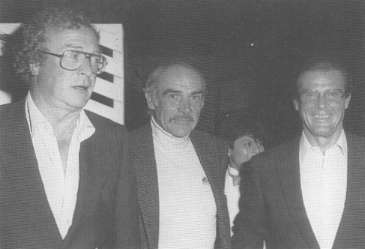 Michael Caine,Sean Connery And Roger Moore