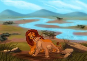 Disney Couples wallpaper entitled Mufasa and Sarabi