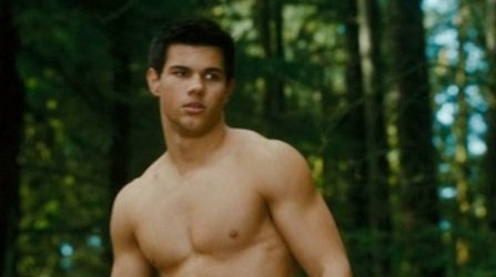 Twilight Series wallpaper with a hunk, a six pack, and skin entitled New Moon Trailer Stills!