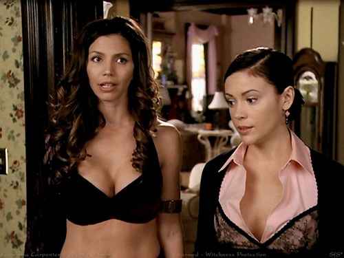 Charmed wallpaper probably with a bikini, a brassiere, and attractiveness entitled Phoebe and Kira, The Seer