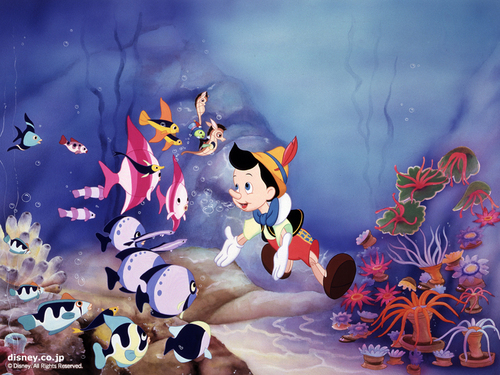 Classic Disney wallpaper entitled Pinocchio Wallpaper