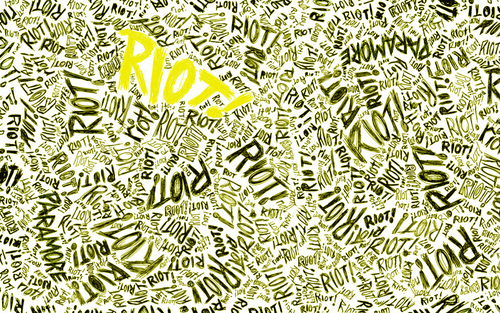 Paramore پیپر وال titled RIOT!yellow