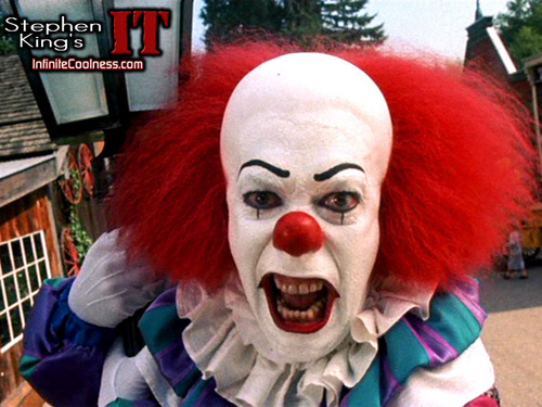 Horrorfilme Hintergrund called Reason why Du should be scared of clowns