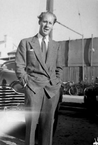 Rex Harrison - candid