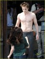 Robert Pattinson: 'New Moon' Shirtless! - twilight-series photo