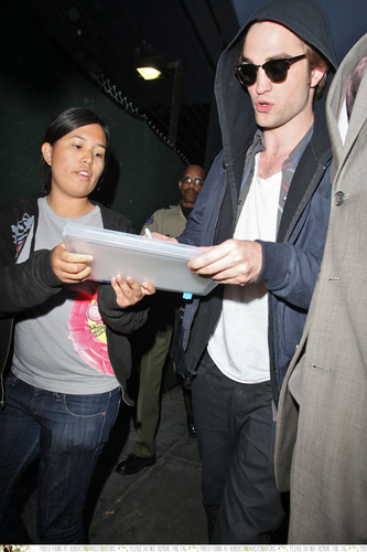 Robert Pattinson arrived at the LAX airpor