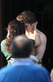"Robert with Kristen on the set of ""New Moon"" - 27 May - twilight-series photo"