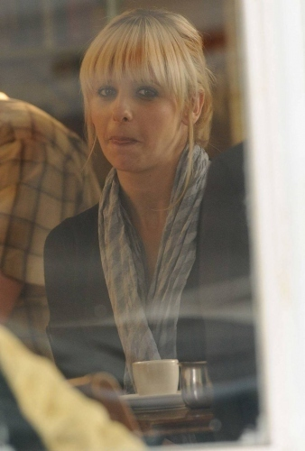 Sarah on set 'The Wonderful Maladys'