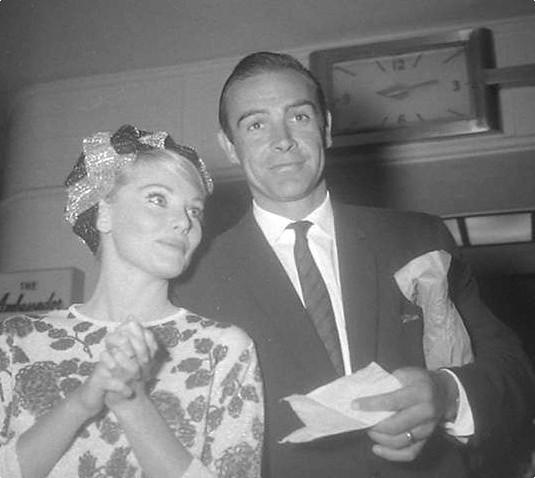 Sean Connery & wife (1960s) - candid