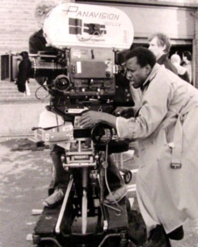 Sidney Poitier On Film Set