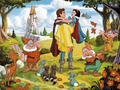 Snow White and the Seven Dwarfs achtergrond
