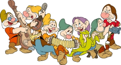Snow White and the Seven Dwarfs wallpaper probably with anime titled The Seven Dwarfs