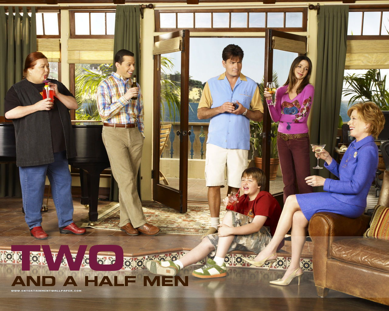 Two and a Half Men Обои