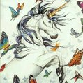 Unicorn and papillons