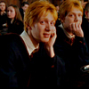 Harry Potter foto with a business suit called Weasley Twins