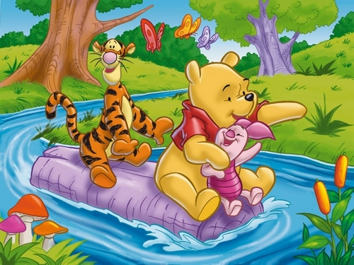 O Ursinho Puff wallpaper with animê entitled Winnie the Pooh wallpaper