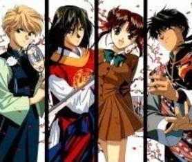 Yui,Hotohori,Miaka,Tamahome