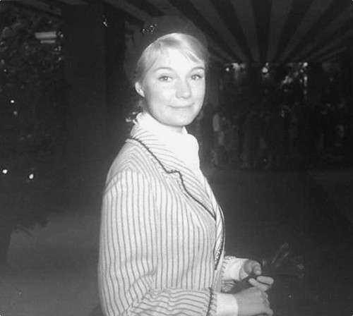 Yvette Mimieux on the town - candid