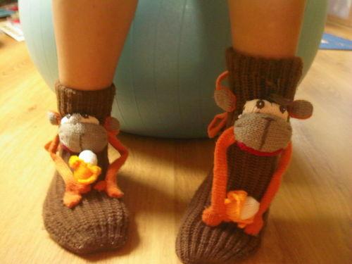 "mispulka´s ""monkey"" socks :D"