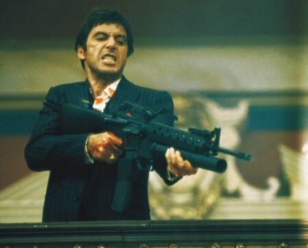 Scarface wallpaper probably with a rifleman and a green beret entitled scarface