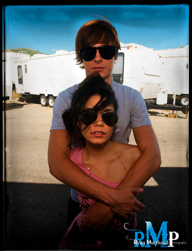 Zac Efron wallpaper containing sunglasses entitled zac efron and vanessa hudgens