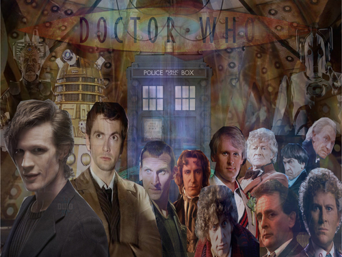 doctor who wallpaper possibly with a business suit and a jalan, street entitled 46 tahun of Doctor Who