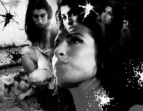 Amy Winehouse Black and White Banner