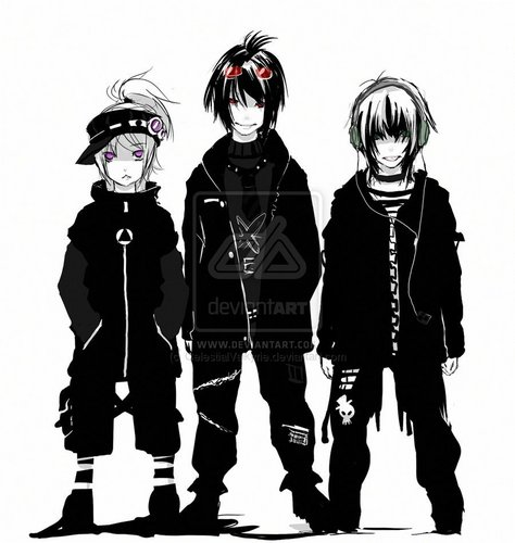 anime Boys in Black
