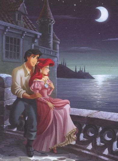 Princess Ariel and Prince Eric Cartoon Disney